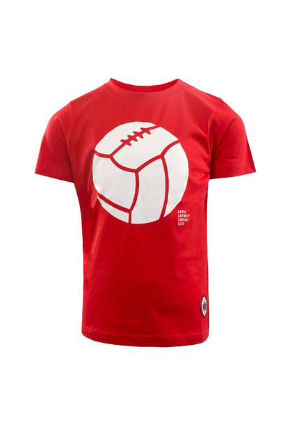 RAFC T-shirt Retro Ball Kids - Rood