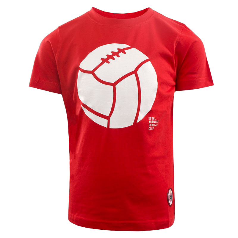 RAFC T-shirt Retro Ball Kids - Rood-1
