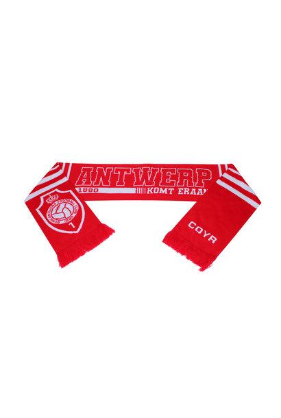 Antwerp Official Sjaal - Antwerp komt eraan - Rood/Wit