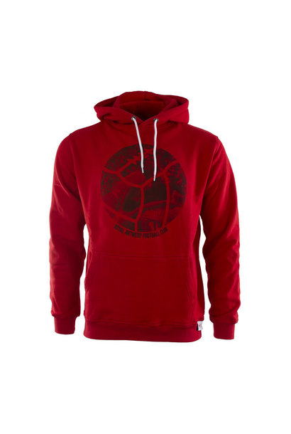 RAFC Hooded Sweater Retro Ball - Rood