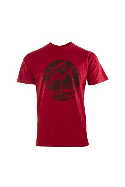 RAFC T-shirt Retro Ball - Rood