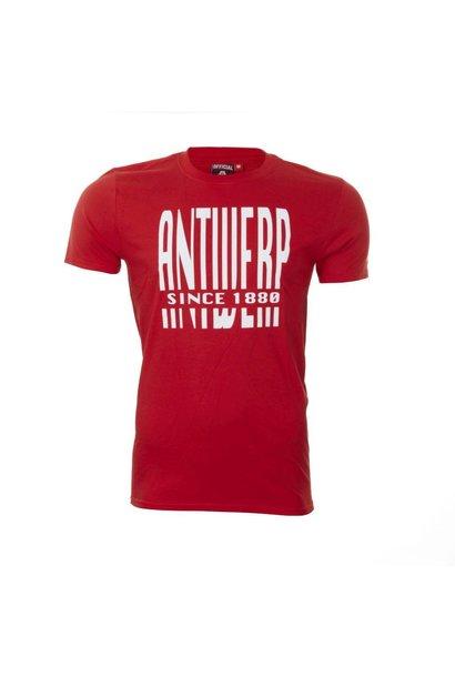 RAFC T-shirt 'Antwerp since 1880' - Rood