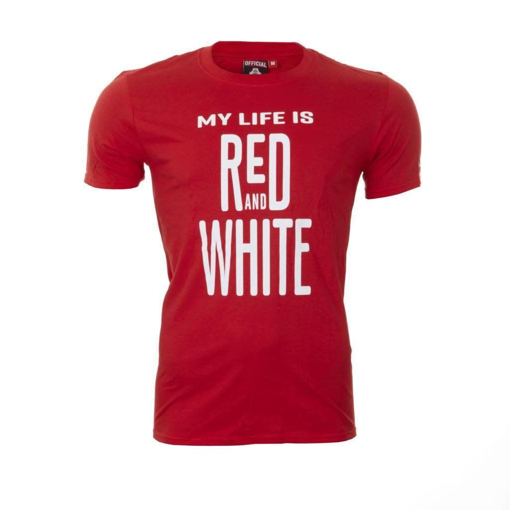 RAFC T-shirt 'My Life' Kids - Rood-1