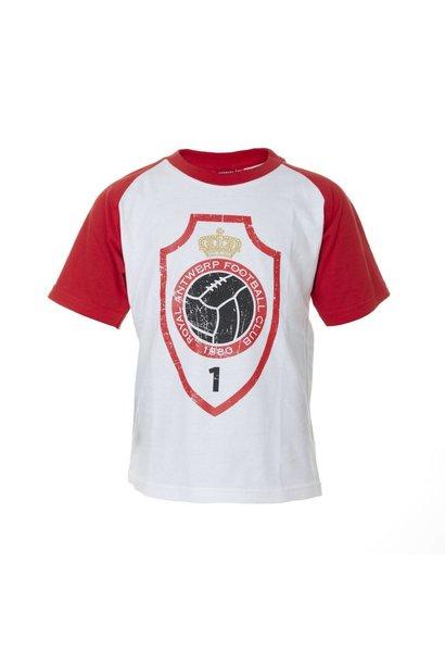 RAFC T-shirt 'Logo vintage' Kids - Wit/Rood