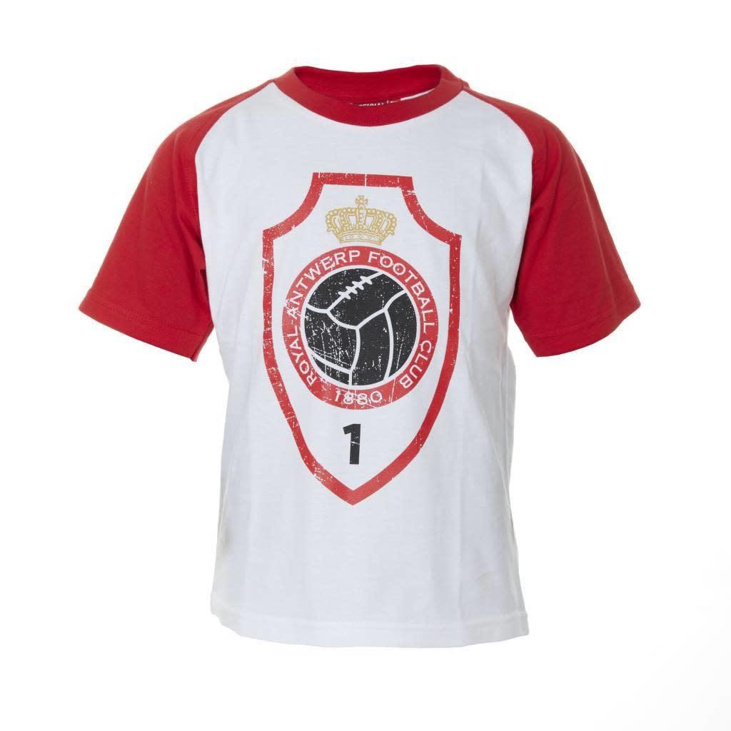 RAFC T-shirt 'Logo vintage' Kids - Wit/Rood-1
