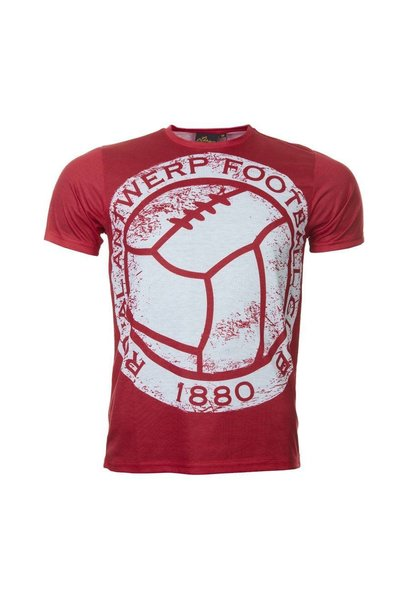 RAFC T-shirt 'The great old vintage bal' - Rood