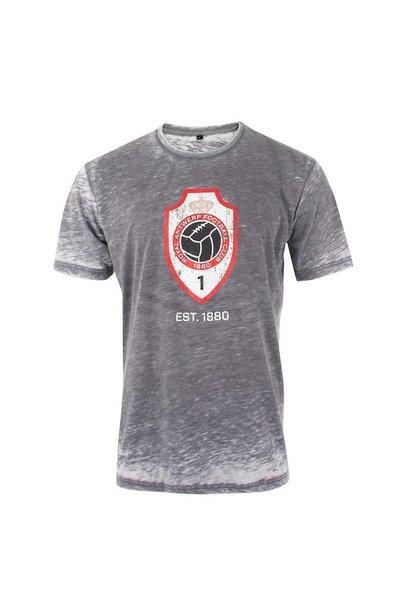 RAFC T-shirt 'Vintage Logo' - Grijs
