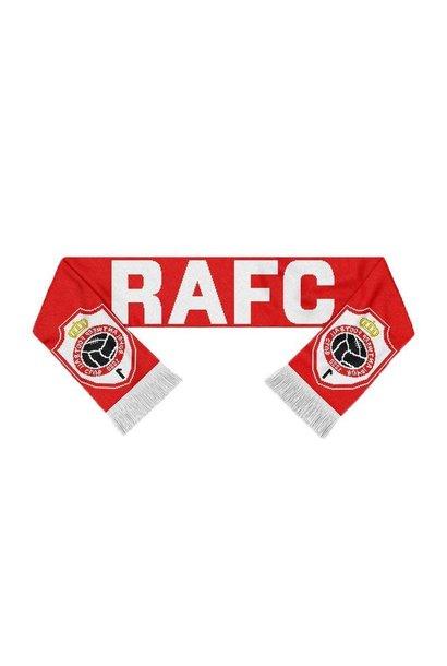RAFC Sjaal Gebreid - RAFC + Embleem - Rood/Wit