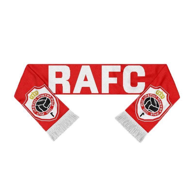 RAFC Sjaal Gebreid - RAFC + Embleem - Rood/Wit-1
