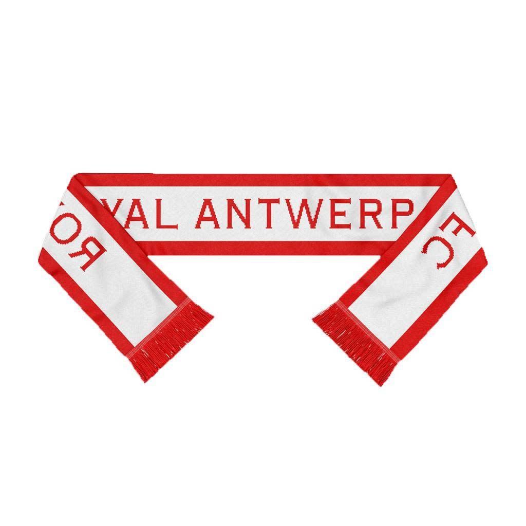 RAFC Sjaal Gebreid - Royal Antwerp FC (Copperplate) - Wit/Rood-1