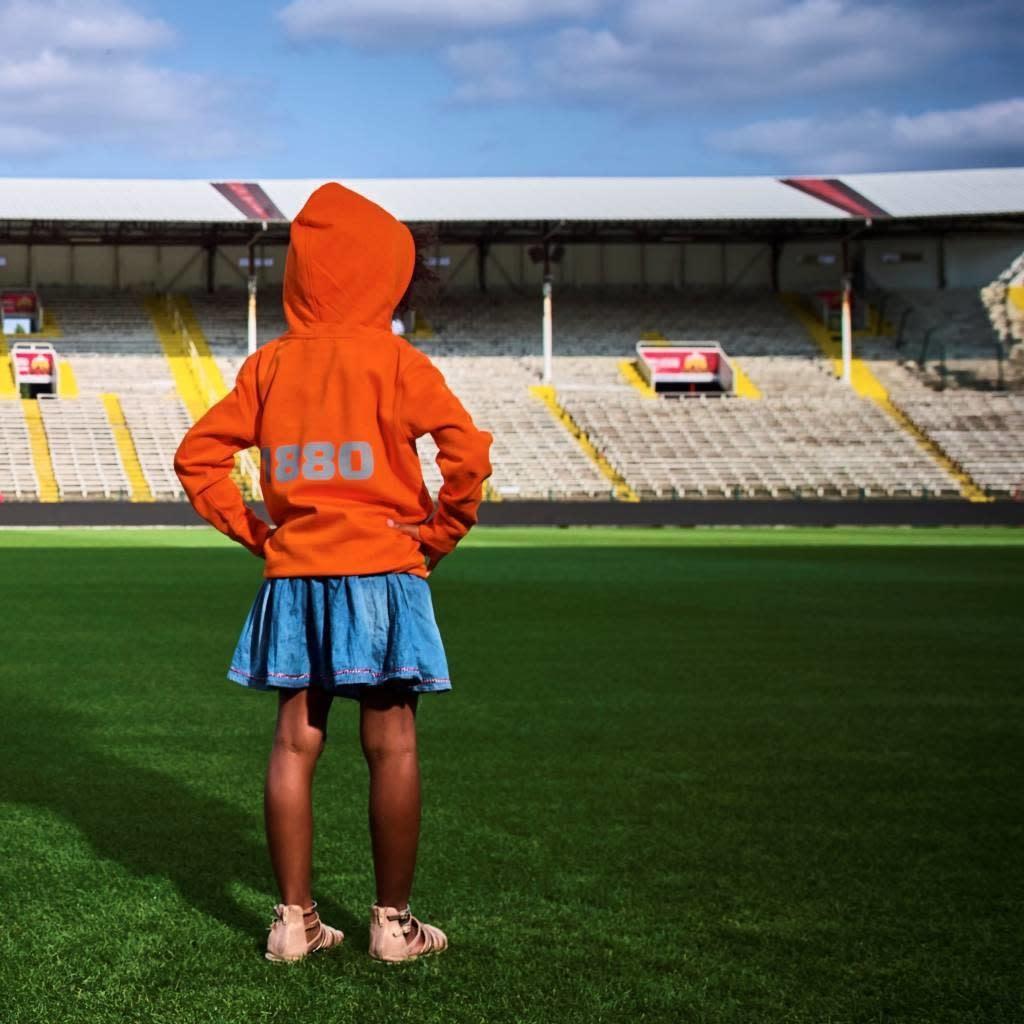 RAFC Hoodie 'Team 1880' Kids - Oranje-3