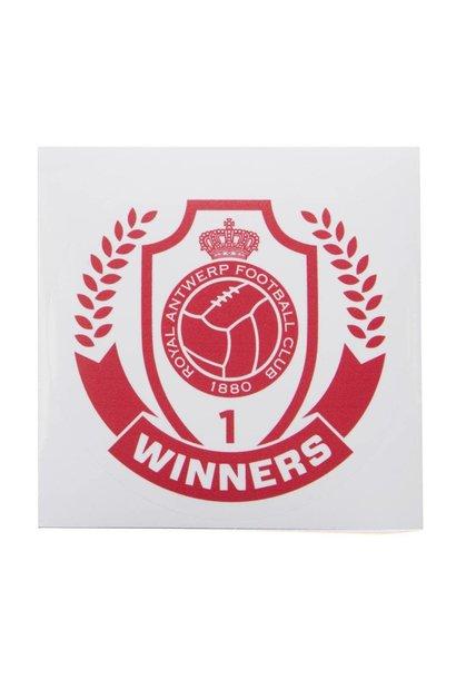 RAFC Sticker Transparant - Winners - Rond