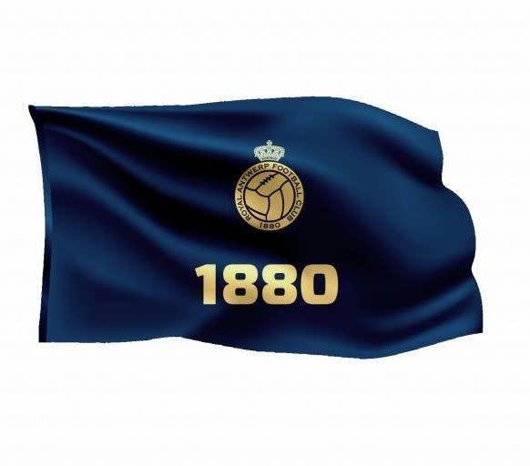 RAFC Vlag '1880' 150x100cm - Blauw-1