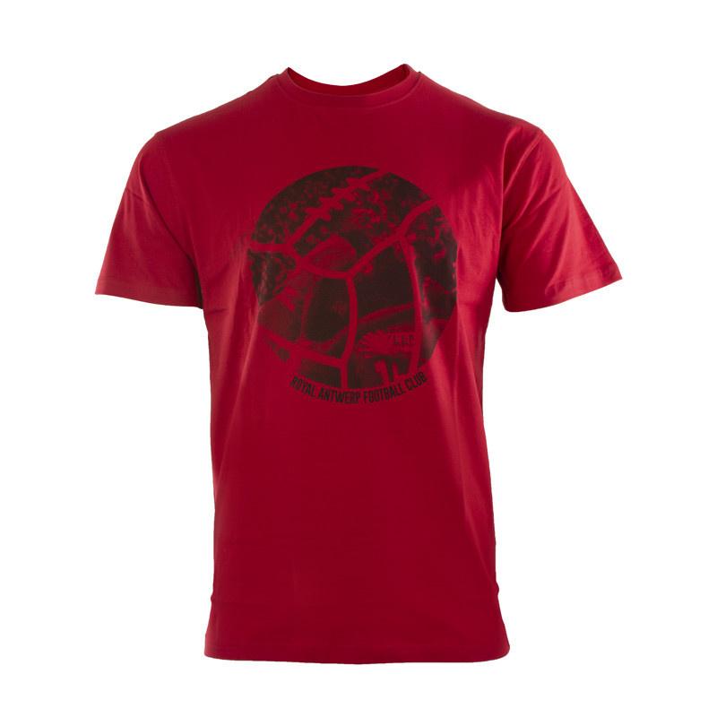 RAFC T-shirt Retro Ball - Rood-5