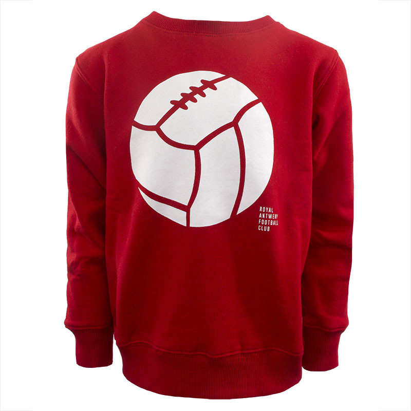 RAFC Sweater Retro Ball Kids - Rood-5