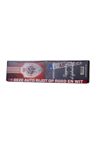 RAFC Nummerplaat 'Deze auto rijdt op Rood en Wit'