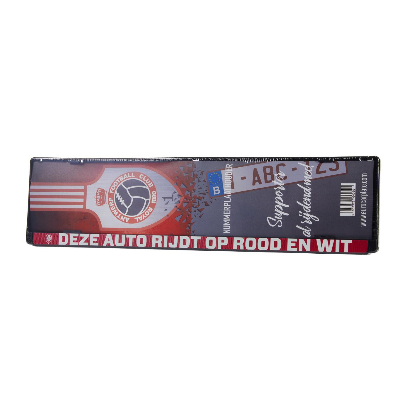 RAFC Nummerplaat 'Deze auto rijdt op Rood en Wit'-1