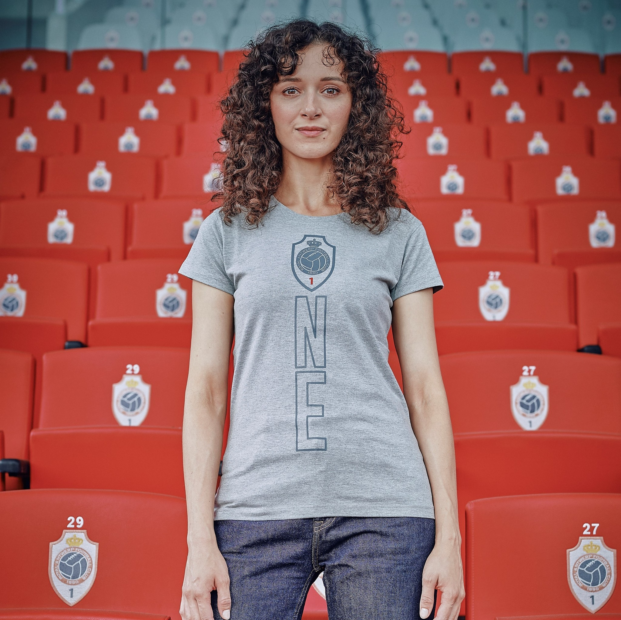 RAFC T-shirt Ladies ONE - Grijs-4