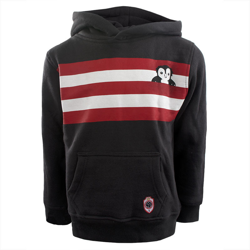 RAFC Hooded Sweater Stripes Owl Kids - Charcoal-12