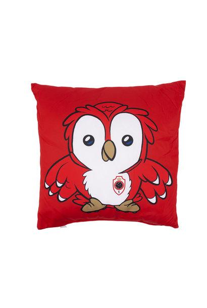 Kussen 'Logo - Bosuiltje' rood