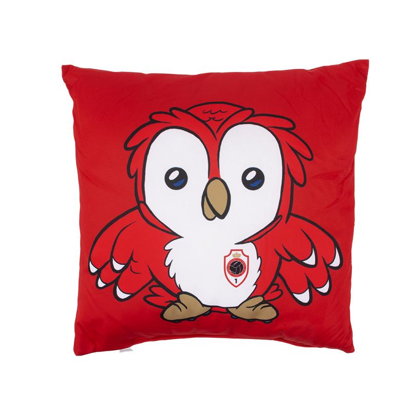 Kussen 'Logo - Bosuiltje' rood-1