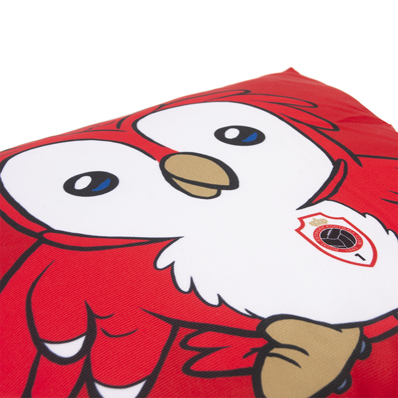 Kussen 'Logo - Bosuiltje' rood-3