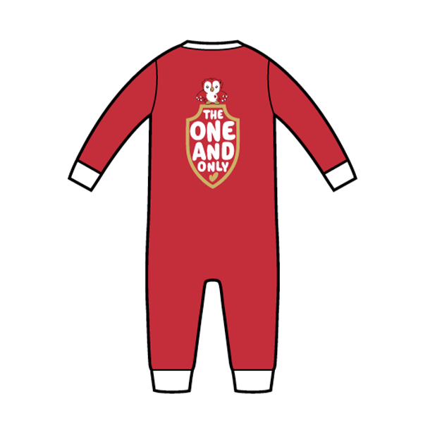 RAFC Baby Jumpsuit 'The one and only' - Rood-2
