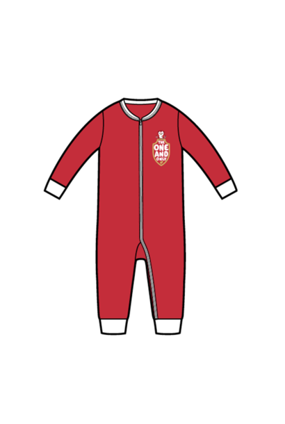 RAFC Baby Jumpsuit 'The one and only' - Rood
