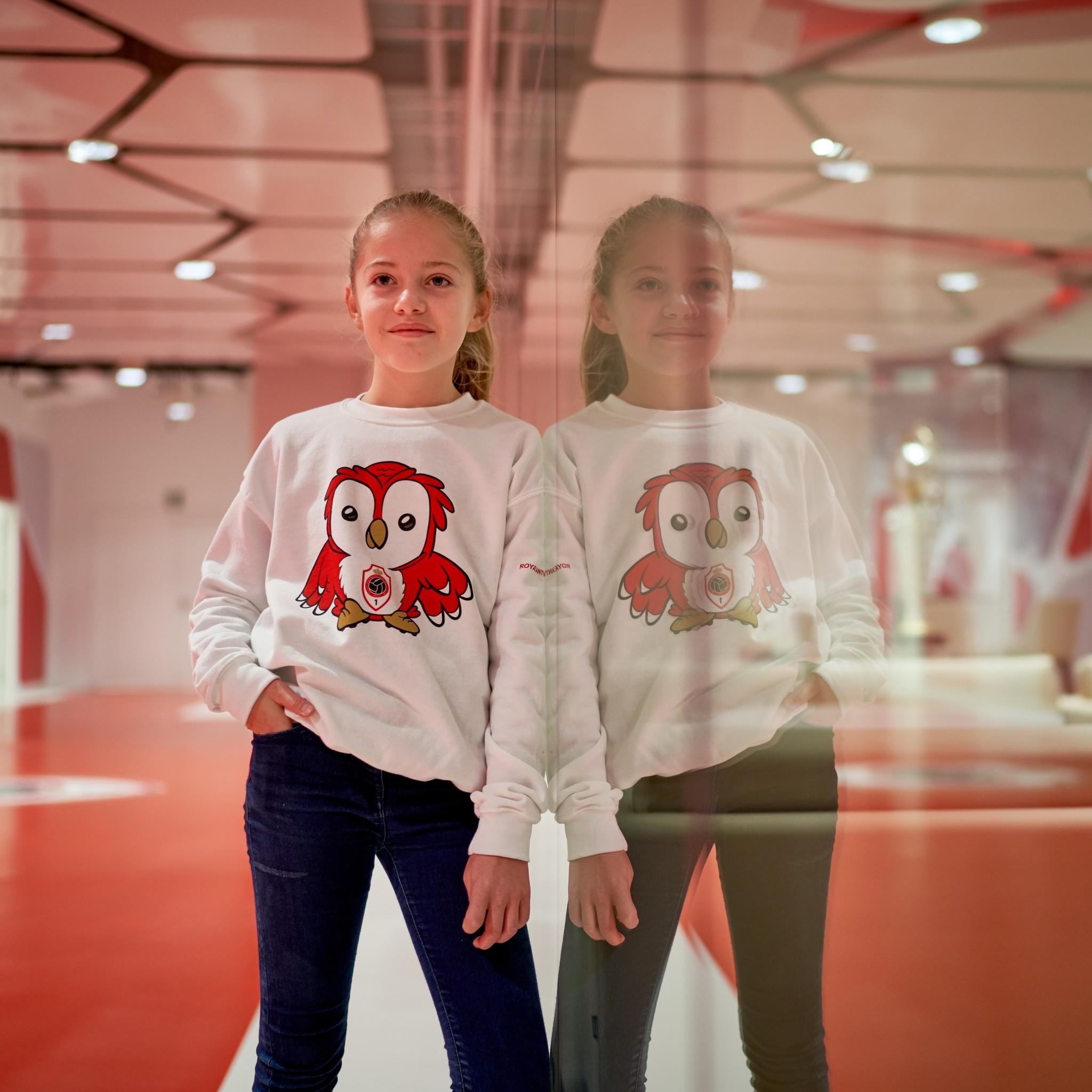 RAFC Sweater 'Bosuiltje' Kids - Wit-2