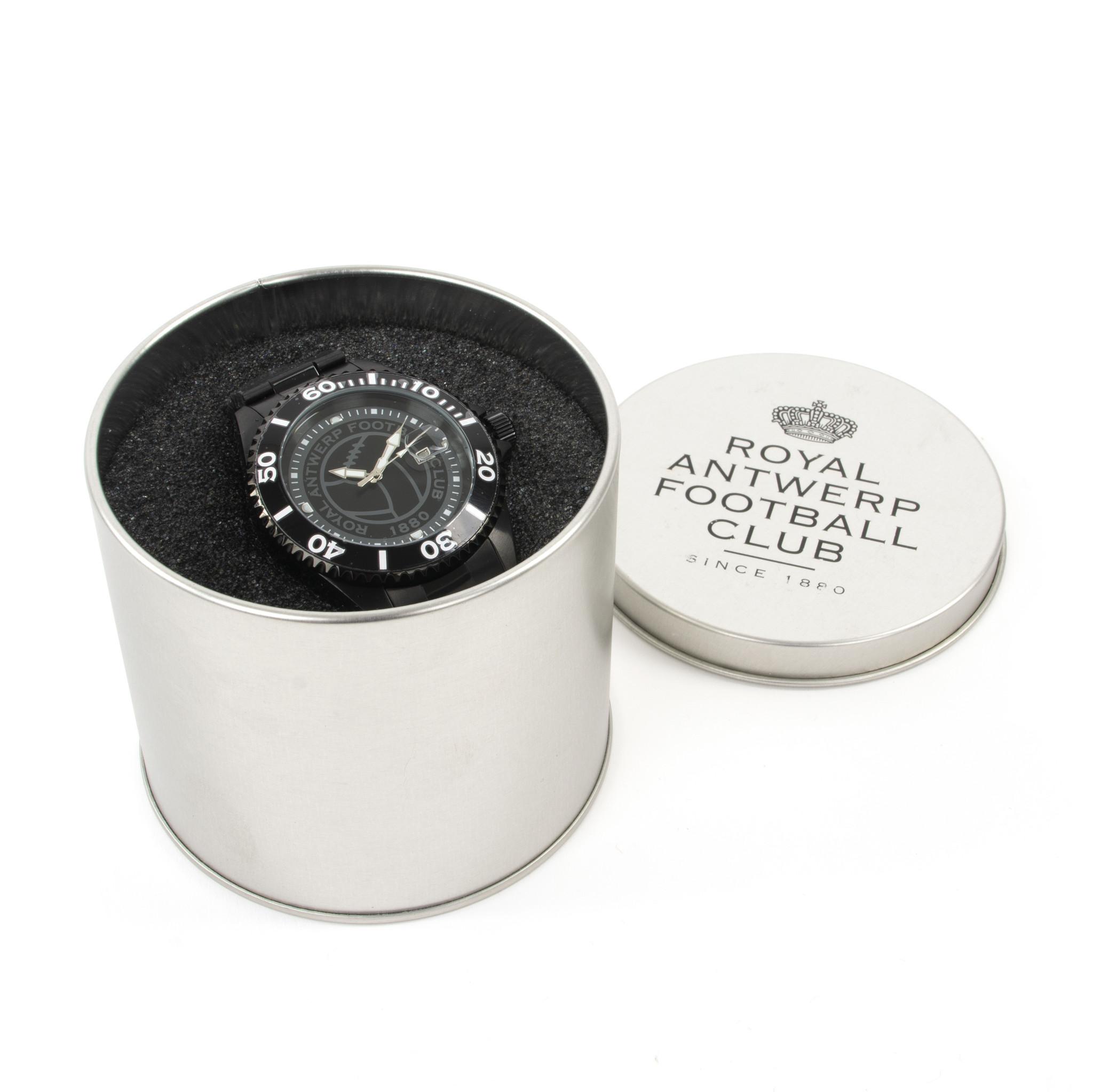 RAFC Horloge Metallic 'Vintage Ball' - Zwart-2