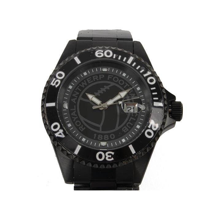 RAFC Horloge Metallic 'Vintage Ball' - Zwart-1