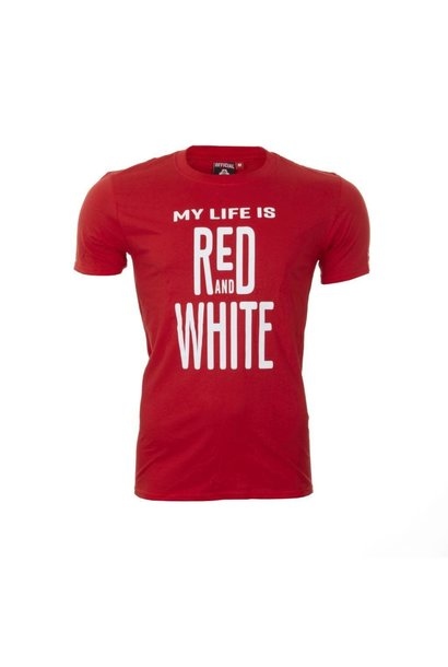 RAFC T-shirt 'My Life' - Rood