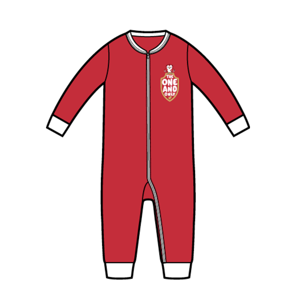 RAFC Baby Jumpsuit 'The one and only' - Rood-3