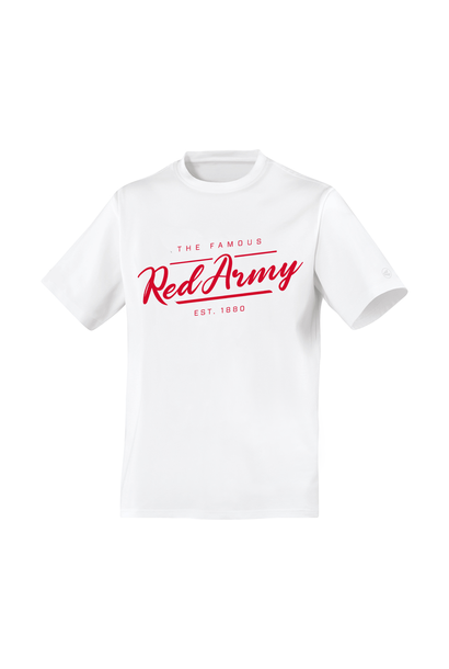 RAFC T-shirt WIT ' The Famous Red Army'