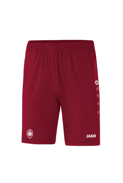 Trainingsshort Premium Kids - wijnrood