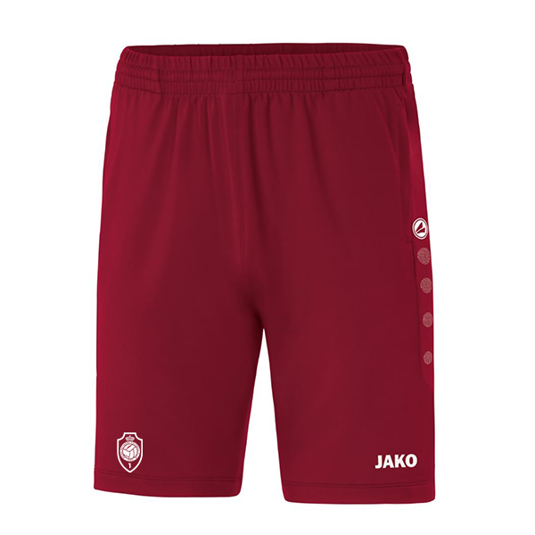 Trainingsshort Premium Kids - wijnrood-1