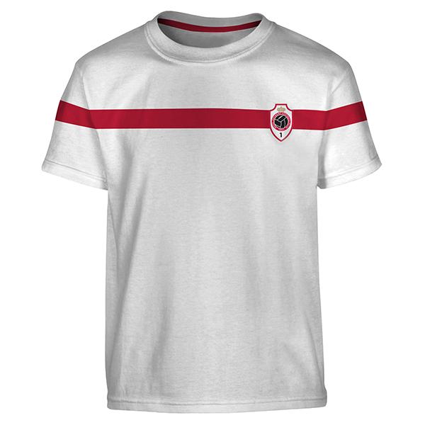 RAFC - T-shirt kids white - RAFC logo stripe-1