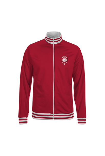 RAFC - ZIP Jacket red - RAFC logo