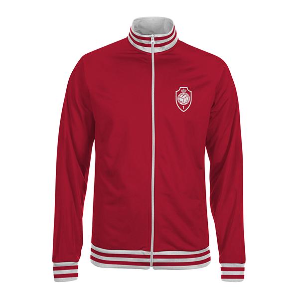 RAFC - ZIP Jacket red - RAFC logo-1