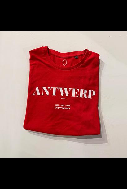 T-shirt rood RAFC Antwerp - Cup Winner
