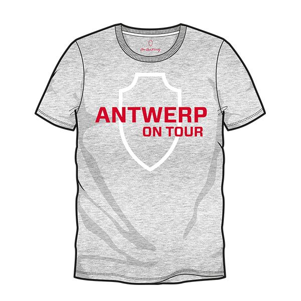 T-shirt grijs Antwerp on tour-1