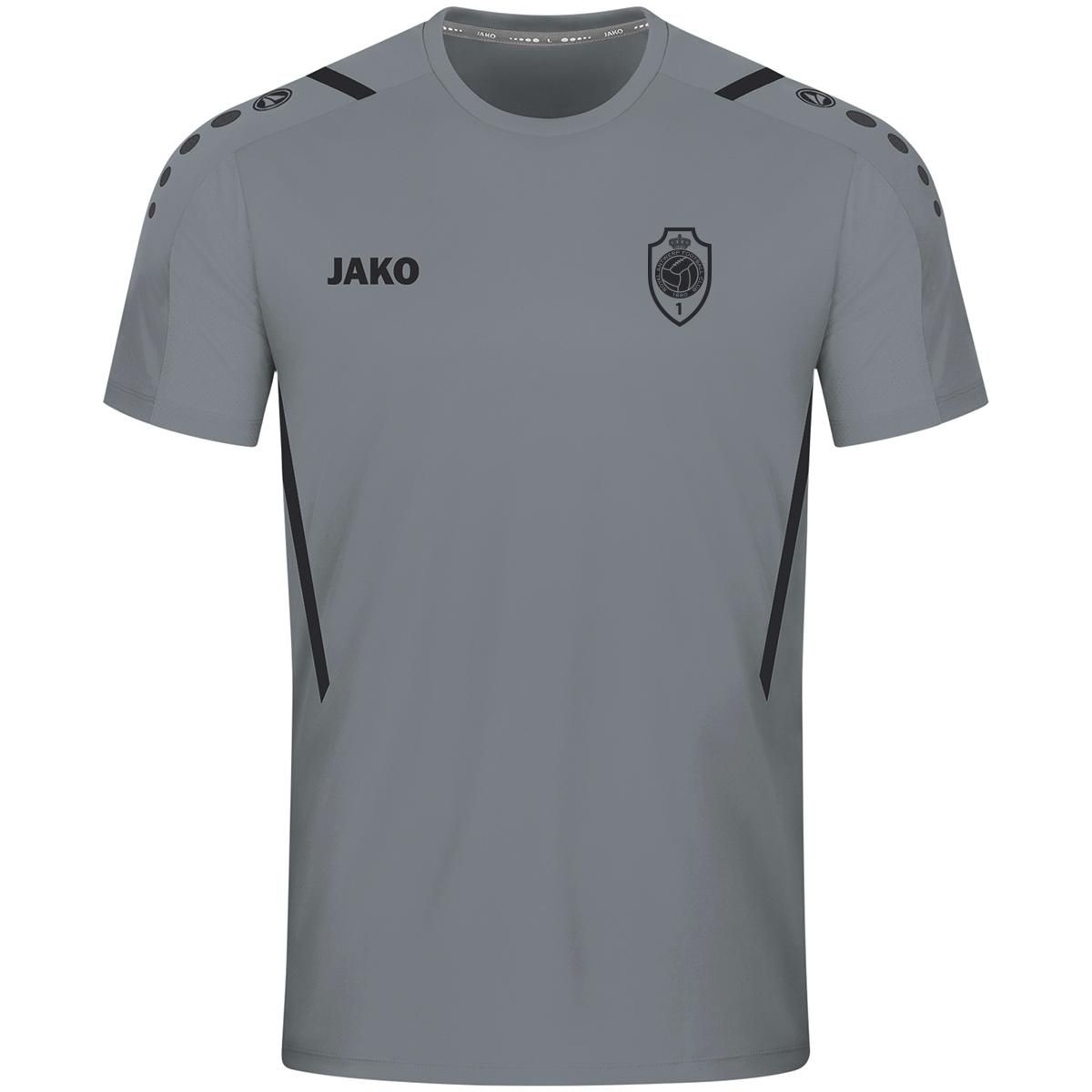 RAFC T-shirt Challenge Kids - Steengrijs/Zwart-1