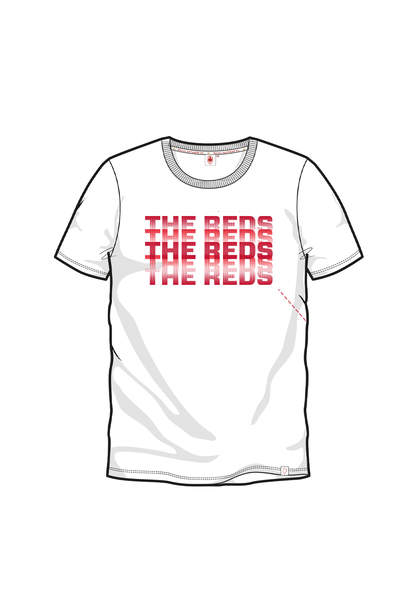 T-shirt 'The Reds' - Wit