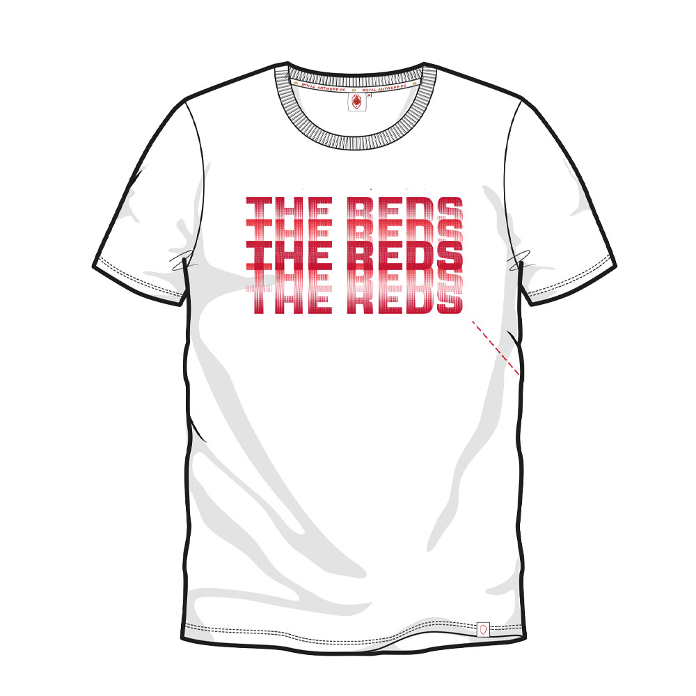 T-shirt 'The Reds' - Wit-1
