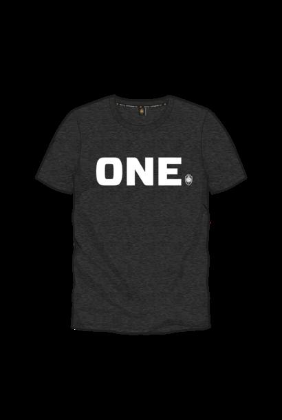 T-shirt 'ONE' - Donkergrijs