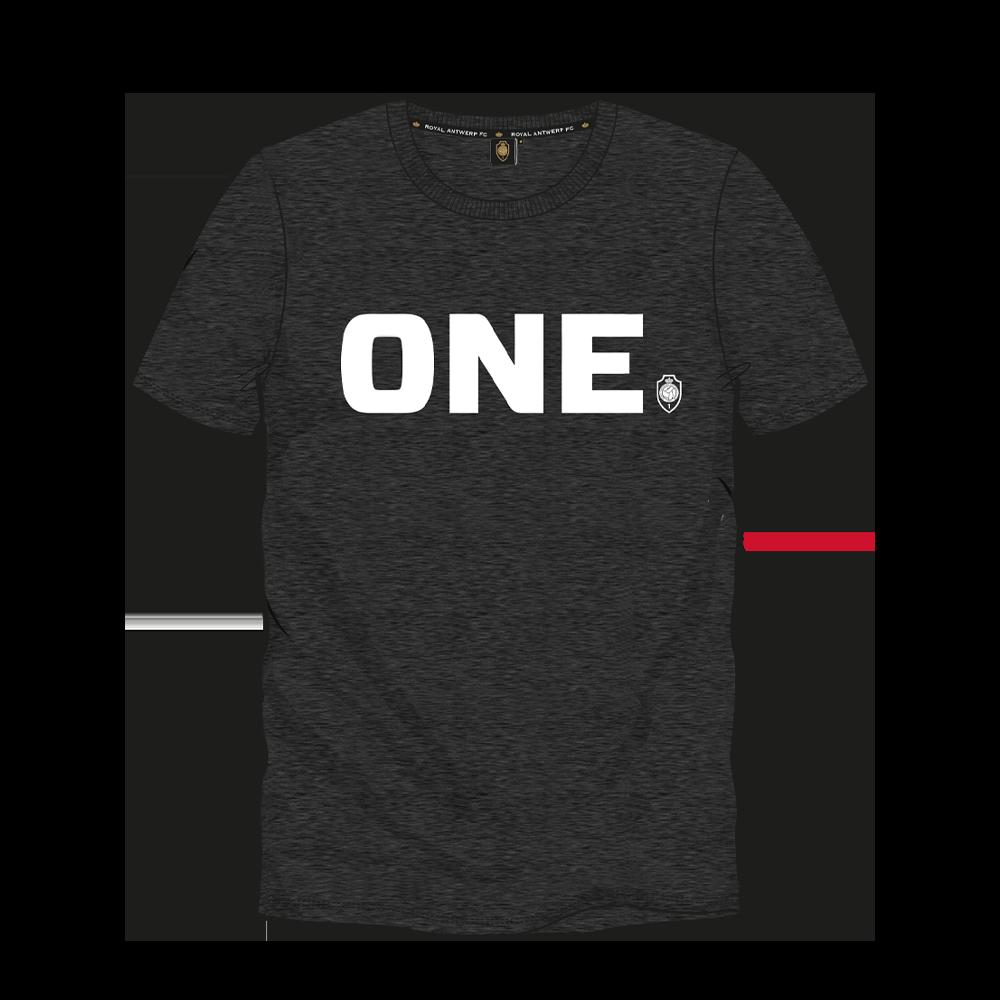 T-shirt 'ONE' - Donkergrijs-1