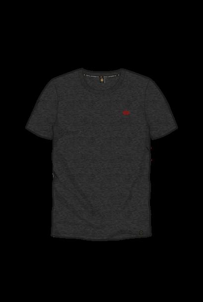 T-shirt Basic Kroontje - Donkergrijs