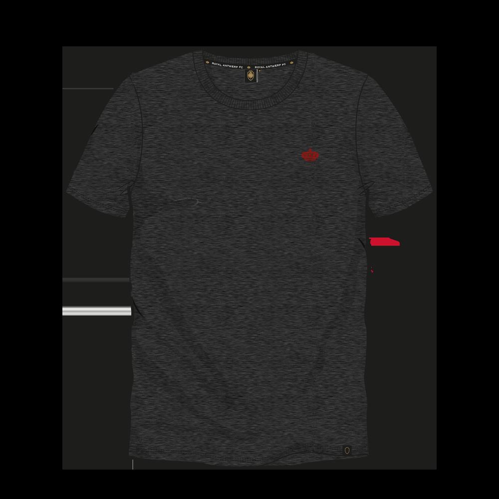 T-shirt Basic Kroontje - Donkergrijs-1