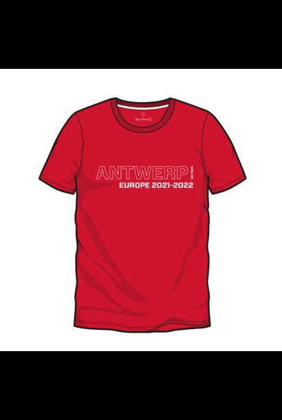 RAFC T-shirt UEL Groep D - Rood