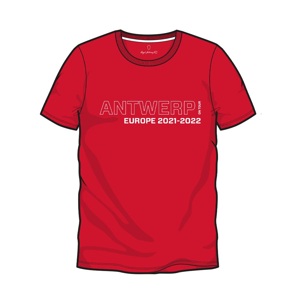 RAFC T-shirt UEL Groep D - Rood-1